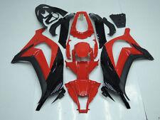 Red w/Gloss Black Fairing BodyWork Kit For Kawasaki Ninja ZX10R 2011-2014 ZX 10R