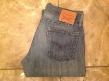 "LEVIS 514 REGULAR FIT USED LOOK MENS JEANS WAIST 32"" INCH"