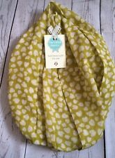 PEONY PAPER HEARTS  LIME GREEN  SCARF MUM  FRIEND GIFT PRESENT HEART LOVE