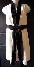 Alice + Olivia Ivory Black Ruffle Bow Sleeveless Designer Cocktail dress Sz XS