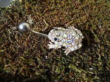 Grenouille Piercing nombril titanium argent 925