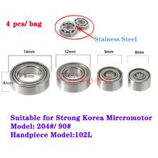 4Pcs Micro dentale manipolo a motore con cuscinetti a sfera in acciaio Marathon Micromotore KIT