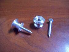 NEW - #7100 Dunlop Strap Buttons (2)  - CHROME