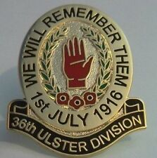 36th ulster division lapel badge british army remember them the somme  e