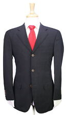 * RING JACKET * Sartoria Japan Solid Charcoal Gray 3B Modern Fit Wool Suit 36R