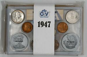 1947 P / D / S DOUBLE MINT SET OSV ANACS MINT STATE UNC P64.93 / D65.28 / S64.54