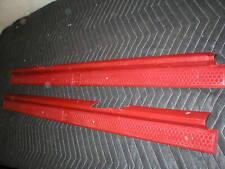 1982 - 92 Camaro Firebird Carmine Red Door Sill Plates PAIR L&R ROCKER Dark Red
