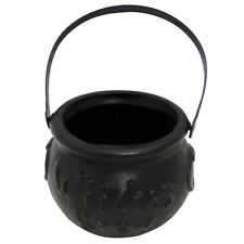 Small Halloween Trick Or Treat Black Witches Brew Cauldron Bucket Kids Party