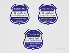 NEW SimpliSafe security sticker (x3) STICKERS, decal, (no yard sign)