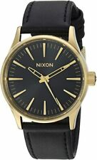 Nixon Men's Sentry 38 A3771604-00 38mm Black Dial Leather Watch