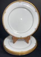"Noritake ""Buckingham Gold"" Dinner Plates 10 1/2"" (set of 4)"