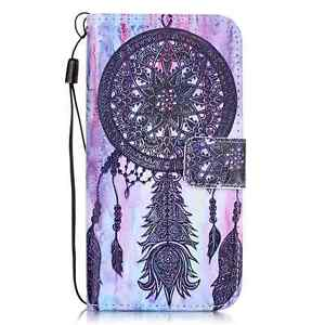 For iPhone 5/6/7/8 Samsung Fashion Wallet Pattern Flip PU Leather Cover Case