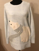 Lauren Conrad Soft Baby Blue Polar Bear Sweater. Ladies S. Orig Price $50