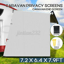 Caravan Privacy Screens Roll Out Awning 1.95 x 2.2M Sun Shade Wall Side visor