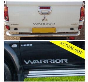 Mitsubishi Warrior L200 Replacement Door & Tailgate decals / Stickers.