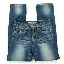 Request Premium Thick Stitch Distressed Skinny Leg Womens Jeans Size 14
