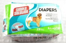 "Simple Solution X-LARGE Disposable Dog Diapers  Waist 18"" - 23"""