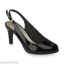0c383f61a1d7 Jaclyn Smith Women s Traci Black Slingback Pump Shoes Size 7 Medium