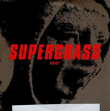 SUPERGRASS MARY CD SINGLE PROMO CARPETA CARTON STICKER AT THE BACK. SEE PICTURE