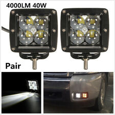 4000LM 40W CREE LED Car Motorcycle Worklight 4D Waterproof 4WD Offroad Spot Lamp