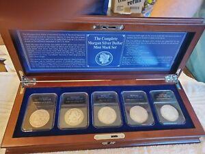 Morgan Silver Dollars Complete Mint Mark Set 1900 1921 1890 Carson City CC