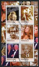 Angola 2000 CTO Legends Woody Allen Barbra Streisand Einstein 6v M/S Stamps