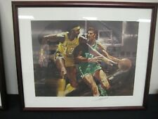 HAVLICEK CHAMBERLAIN  AUTOGRAPHED NUMBERED S I LITHOGRAPH WOOD FRAMED & MATTED