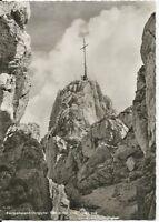 Ansichtskarte Kampenwand-Ostgipfel mit Chiemgaukreuz -  schwarz/weiß