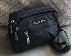 NWT Baggallini Triple Zip Crossbody Bag Charcoal Gray MSRP 49.95