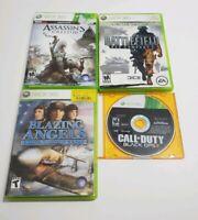 Lot of 4 Xbox 360 Games Black Ops 2, Bad Company 2, Blazing Angels, Assassins Cr