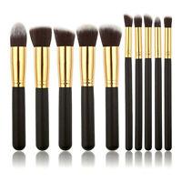 10PCS Full Make-up Brush Eyebrow Blush Foundation Powder Beauty Cosmetic Brushes