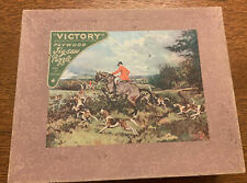 VICTORY Plywood Jigsaw Puzzle 1,000pc No.7064 Hunting Scene.Box & Pieces Ex.cond