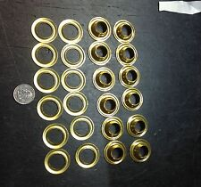 brass canvas grommets 19/32 hole x 1 1/4 AN230B5 12 pieces military loop 2 pcs