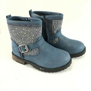 Studio Bimbi Toddler Boys Boots Western Faux Leather Studded Blue Size 25 US 7