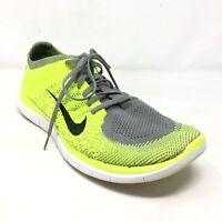 Men's Nike Free 4.0 Flyknit Running Shoes Sneakers Size 13 Neon Green Gray L9