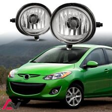04-15 For Mazda Clear Lens Pair Bumper Fog Light Lamp OE Replacement DOT Bulbs