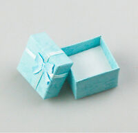 3 Pcs Square Jewellery Box LightBlue Jewelry Gift Boxes Case For Ring HF2
