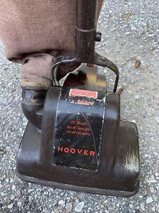 Antique Hoover Upright Vacuum Works! Model 115 Electric Bag