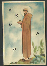 Postal antigua de San Francisco de Asis andachtsbild santino holy card santini