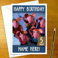 CLANGERS Personalised Birthday Card - A5 tv cartoon granny major mother moon the