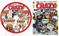 91 Crazy Comic Magazines 1973 - 1983 in PDF on DVD satire stan lee