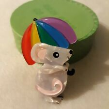Whatever the Weather Release, U.S. Seller Erstwilder Rainbow Rain Mouse Brooch -