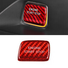 Red For Chevrolet Camaro 2016-2019 Carbon Fiber Engine Start Stop Swtich Cover