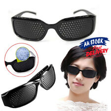 1X Vision Anti-fatigue Exercise Pinhole Care Glasses Eyesight Black PM Improver