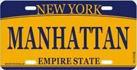 New York Manhattan Metall Schild Plate Empire State 30 cm Souvenir
