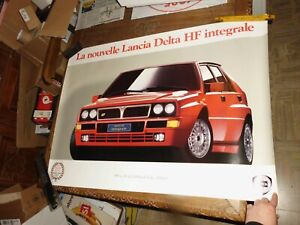 11/1991 LANCIA DELTA HF INTEGRALE RED VERSION MANIFESTO POSTER CM 100X70 RALLY
