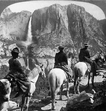 "Underwood and Underwood Photo ""Yosemite Falls from Glacier Point"" 1901"