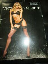 """Victoria'S Secret Vintage Black Nylon Seamless Silk Top Stockings - 5'5"""" to 6'"""