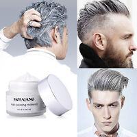 Men Women Silver Ash Grey Hair Wax Hair Pomades Natural Hairstyle Styling Cream