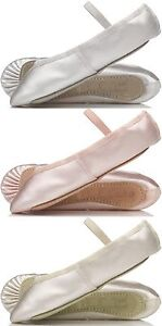 IVORY Satin Bridesmaids Shoes. Child & Adults Sizes Suitable for Ballet Provora